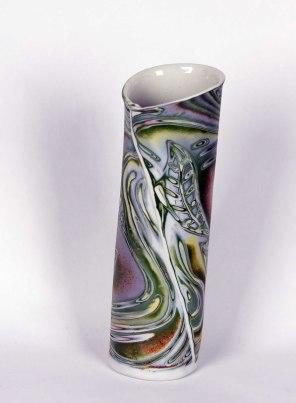 7. Naomi Lindenfeld  Multicolored Clay Vase  Porcelain  naomilindenfeld.com