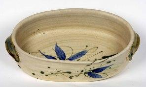 34. Stan Baker  Oval Ceramic Baker  Stoneware  higherspottery@earthlink.net