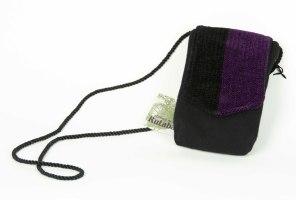 42. Betsy Brisbois  Purse  Hand Woven Wool & Chenille  Rutabaga Designs  N. Conway, NH