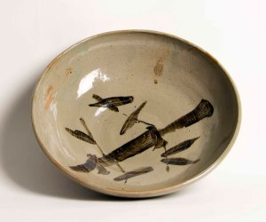 66. Robert Carrell  Bamboo Pottery Bowl  Stoneware  Washington, DC  304-258-6822