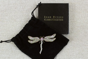 Joan Rivers Vintage Jeweled Dragonfly