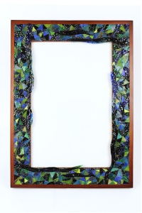 Marla Carr, Large Blue Glass Frame