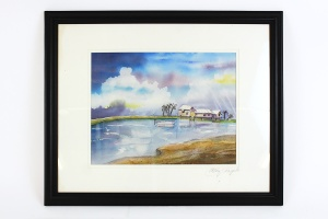 Abby Chapple, Tropical Watercolor Painting