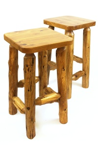Custom Log Barstools