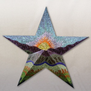 Karen King, Giant Painted Metal Star