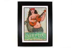 Mike Kleigerman, La Sirena, Framed Print