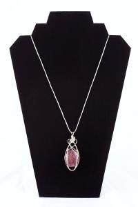Maya Fredo, Tumbled Ruby & Silver Pendant