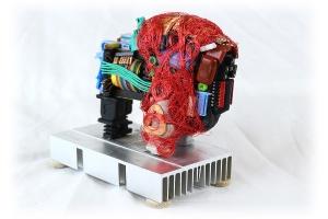 Rick Graser, Buffalo Fetish. Computer Parts Sculpture